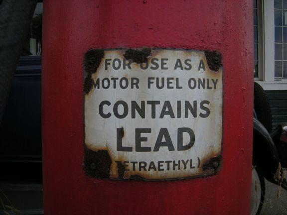 tetraethyl lead warning motor fuel petrol gasoline