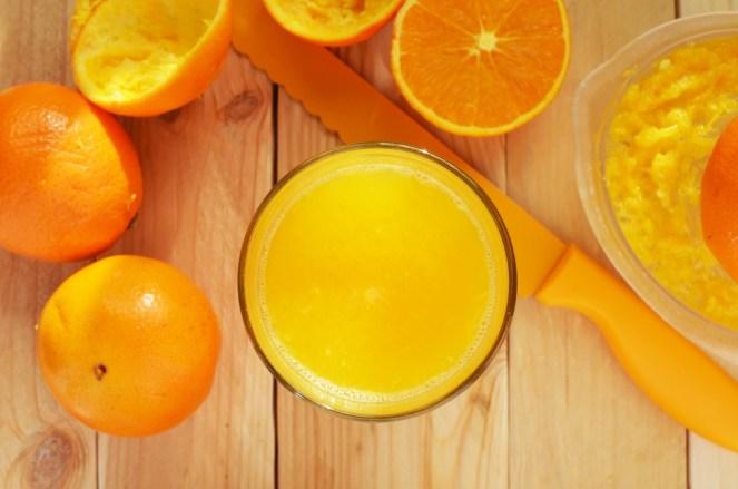 orange juice squeeze cut cup pectin