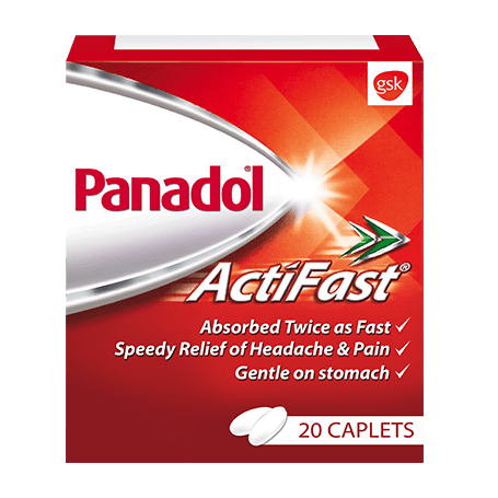 panadol actifast box 20 caplets GSK