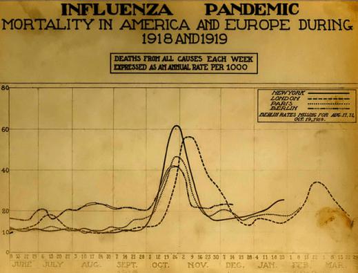 spanish flu influenza viral outbreak pandemic epidemic mortality