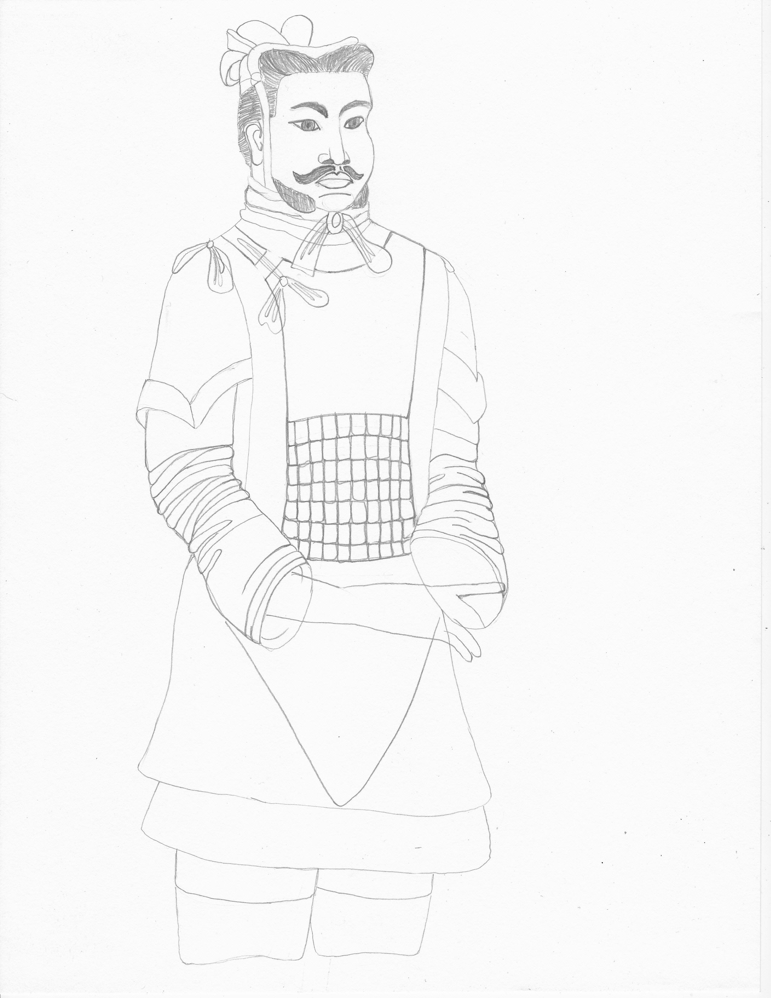 Free terracotta army coloring pages
