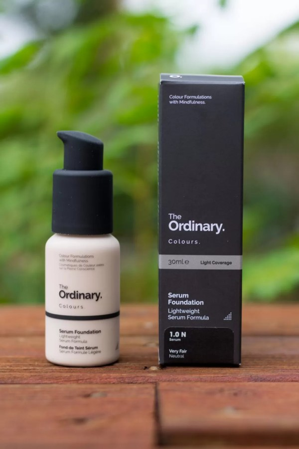 The Ordinary Colour Serum Foundation bottle and box