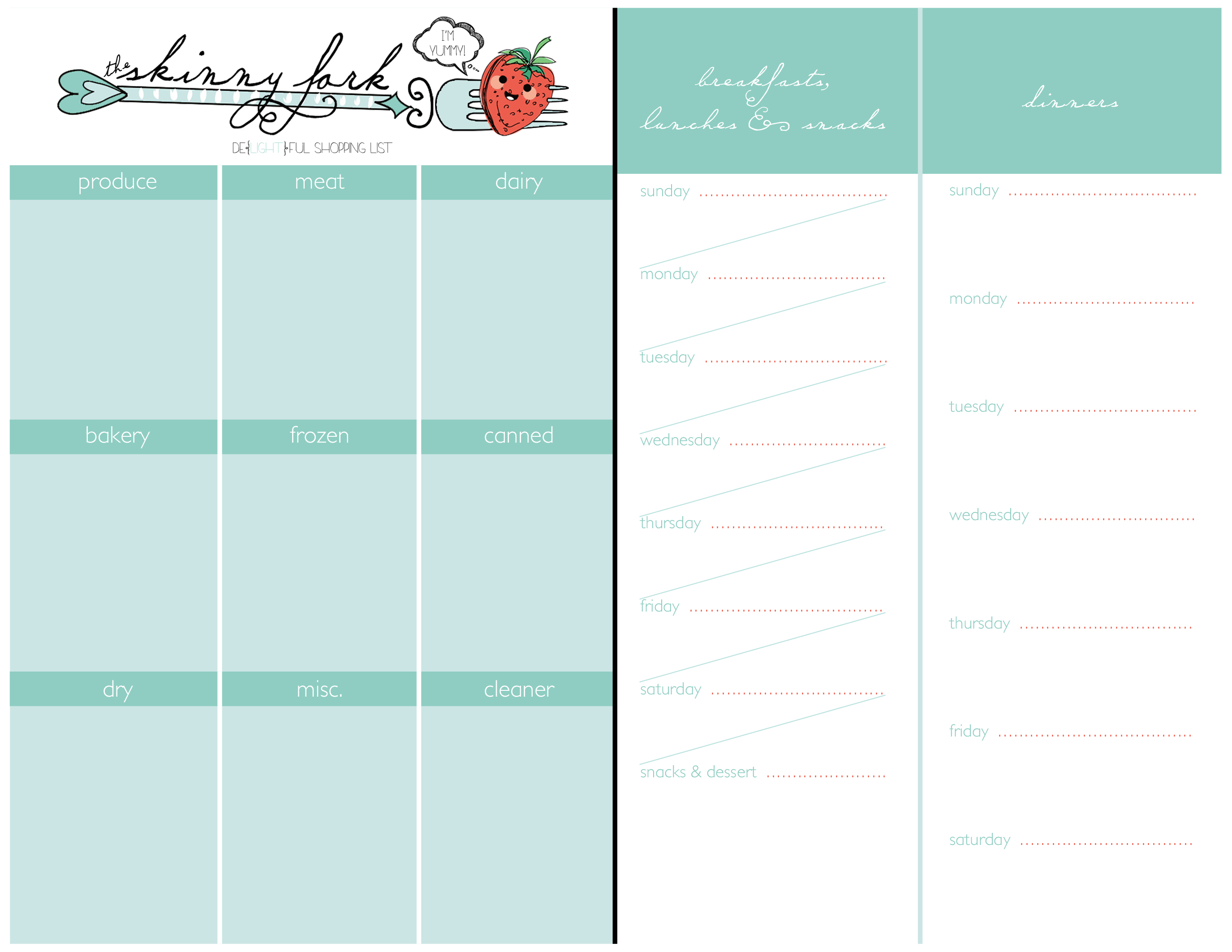 Shopping List & Meal Planner!