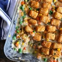Tater Tot Topped Chicken Pot  Pie