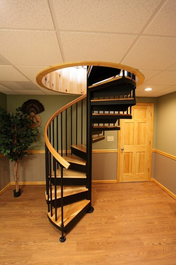 50 Greatest Spiral Staircase Design Ideas In The World | Spiral Staircase To Basement | Rustic | Do It Yourself Diy | Log Cabin | Hidden | Stairway