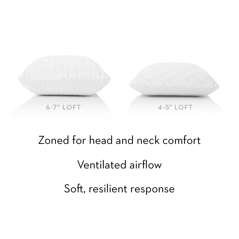 malouf zoned 100 natural talalay latex foam pillow