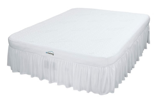 Airbed With Topper And Side Skirt