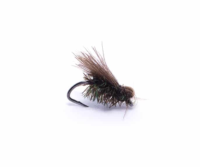 Four High Summer Dry Flies Black CDC Midge