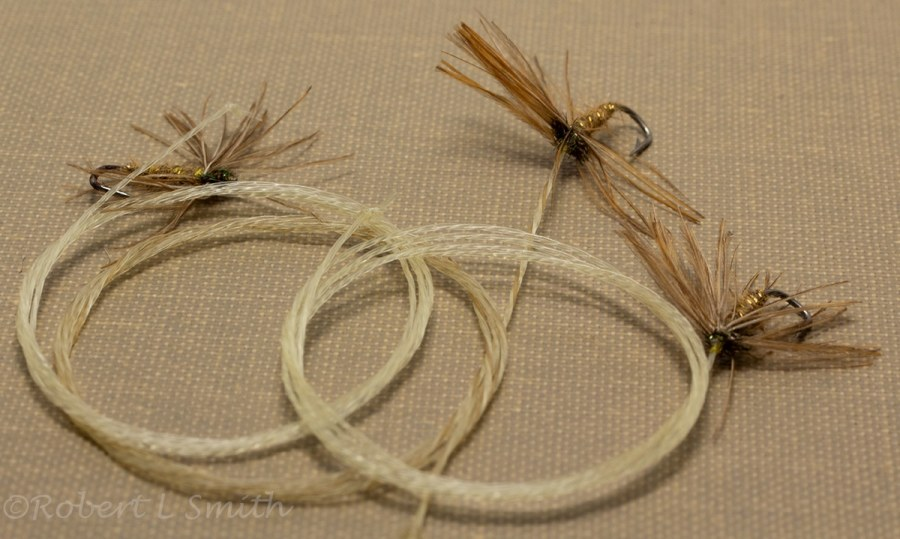 traditional north country spider on a horsehair leader
