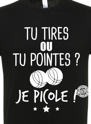 Tu Tires Ou Tu Pointes : tires, pointes, Tires, Pointes, Picole, Shirt