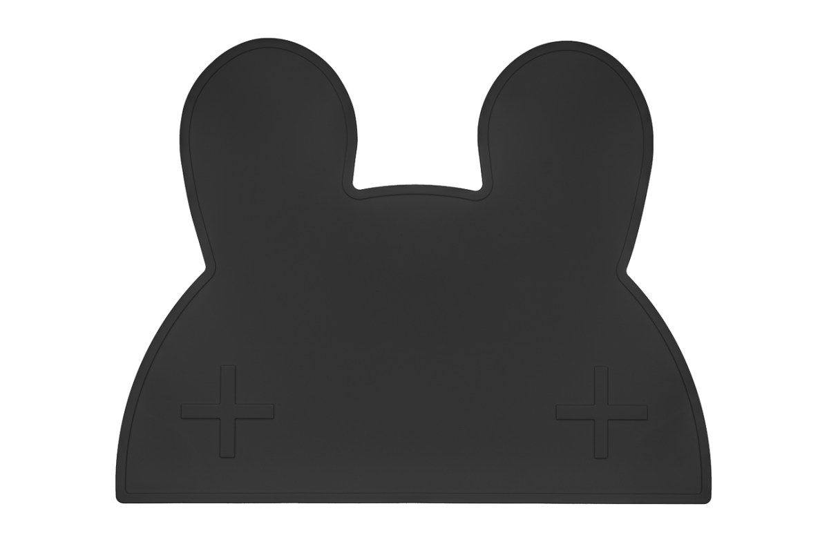 We Might Be Tiny Black Bunny Placemat