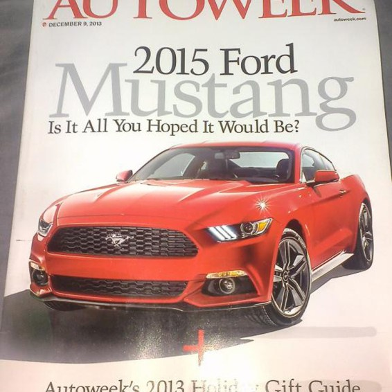 2015 Ford Mustang Magazine Front End