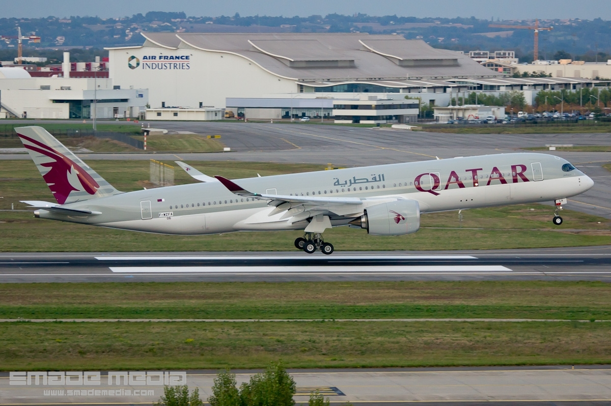 QATAR A350 Roll Out AND First Flight - SMADE MEDIA (5)