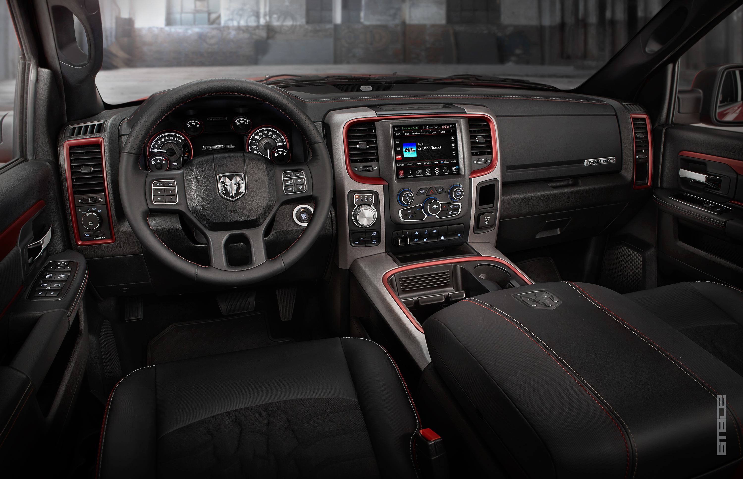 2015 Ram 1500 Rebel Crew Cab 4x4 interior