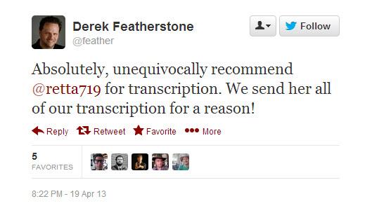 Derek Featherstone Twitter Testimonial