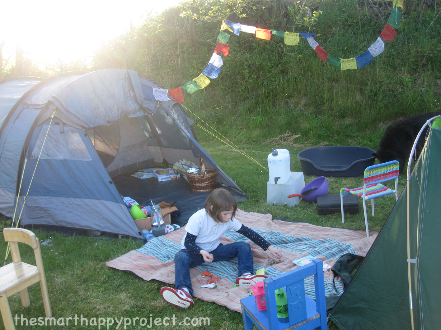 Camping in the Garden Ideas