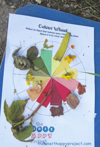 colour collection nature scavenger hunts