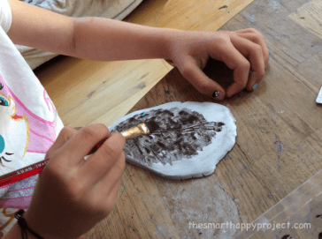 painting leaf prints