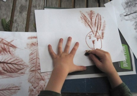 October nature rubbings