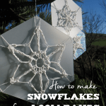 Snowflake Loom Bands. Instructions for how to make stunning snowflakes.