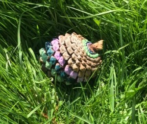 painting the pine cone spiral