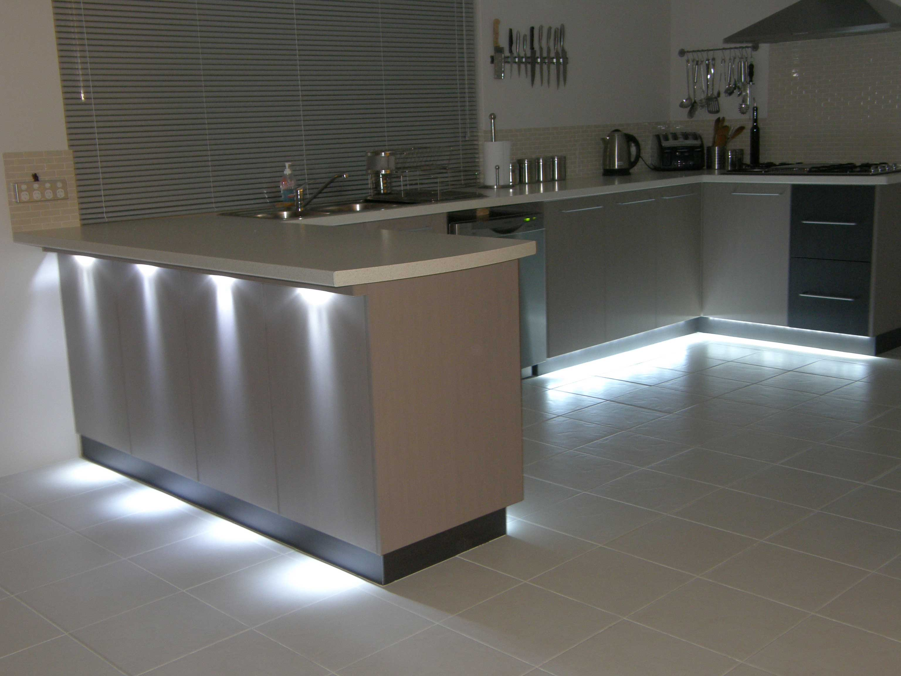 kitchen led lighting island with oven indirect lights smarthouse