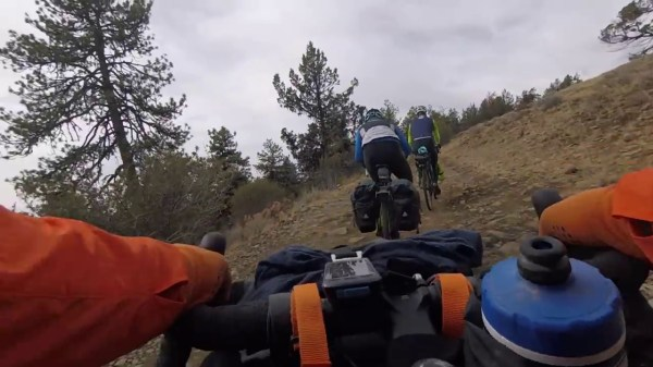 the soft carrying case bikepacking