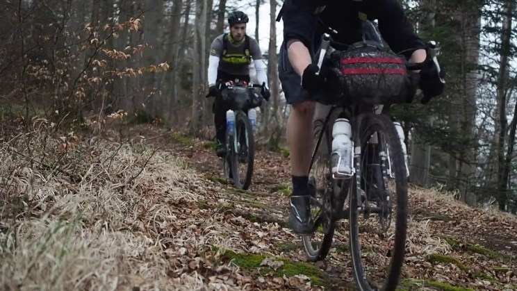 front and rear suspension bikepacking
