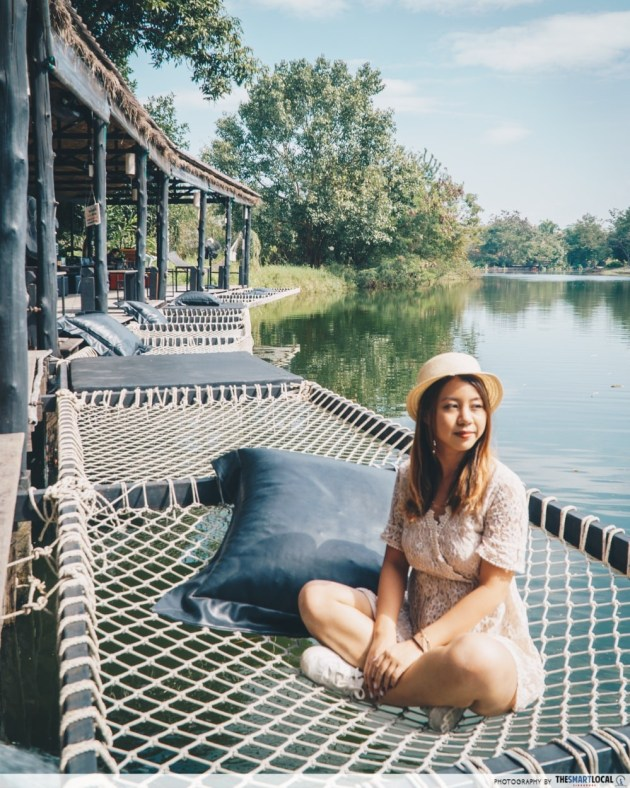 chiang mai Phuffin In The Lake - sitting on net