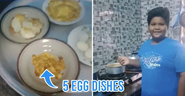 M'sian Boy Ends Up Cooking Only Egg Dishes When Put In Charge Of Family Dinner During MCO
