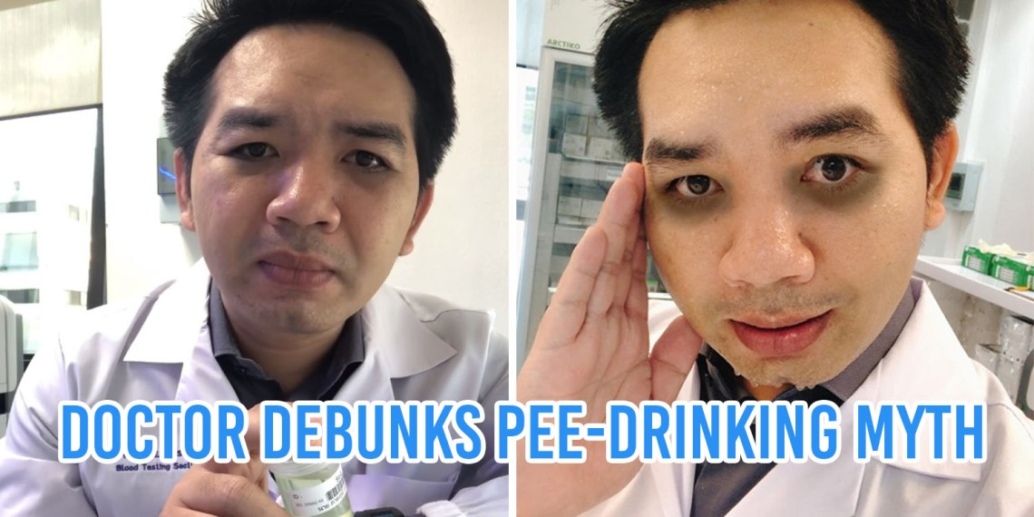 doctor debunks pee drinking
