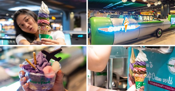 Softair Is An Airline Themed Ice Cream Shop In BKK With Colourful Soft Serves