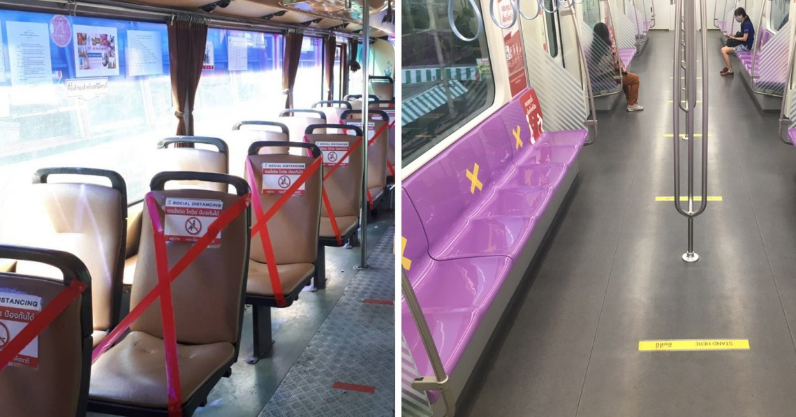 Thai Public Transport Promotes Social Distancing