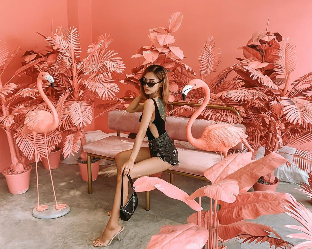 Pink Cafe in Thailand