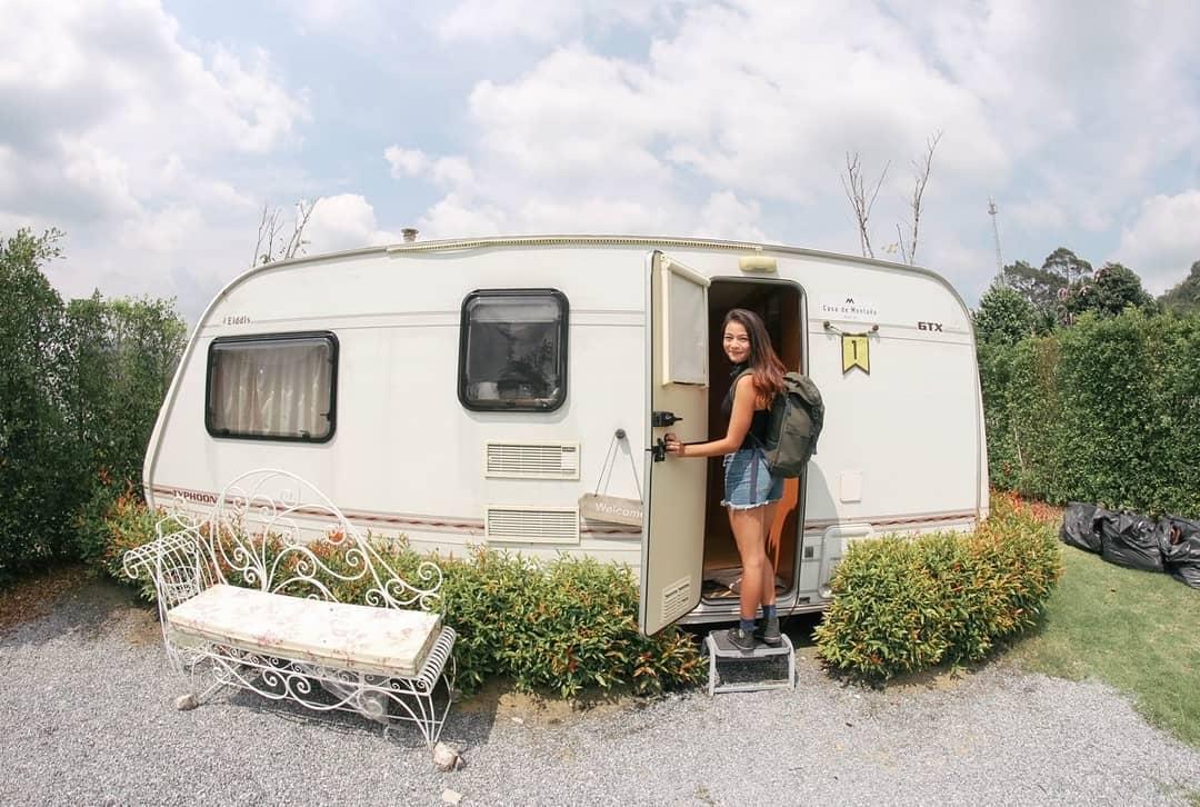 Caravan camping in Thailand