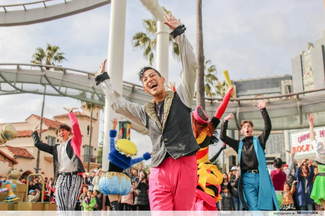 universal studios japan free reborn parade