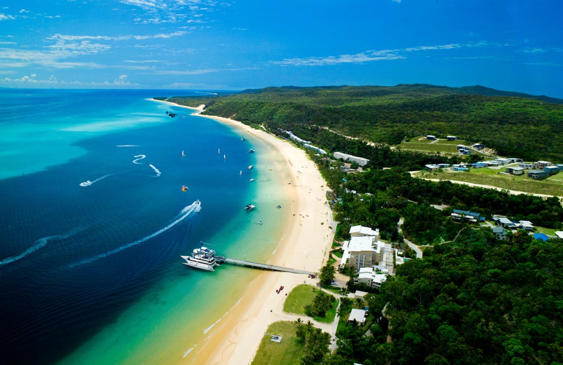Queensland trips jetabout holidays - tangalooma resort dolphin whale watching