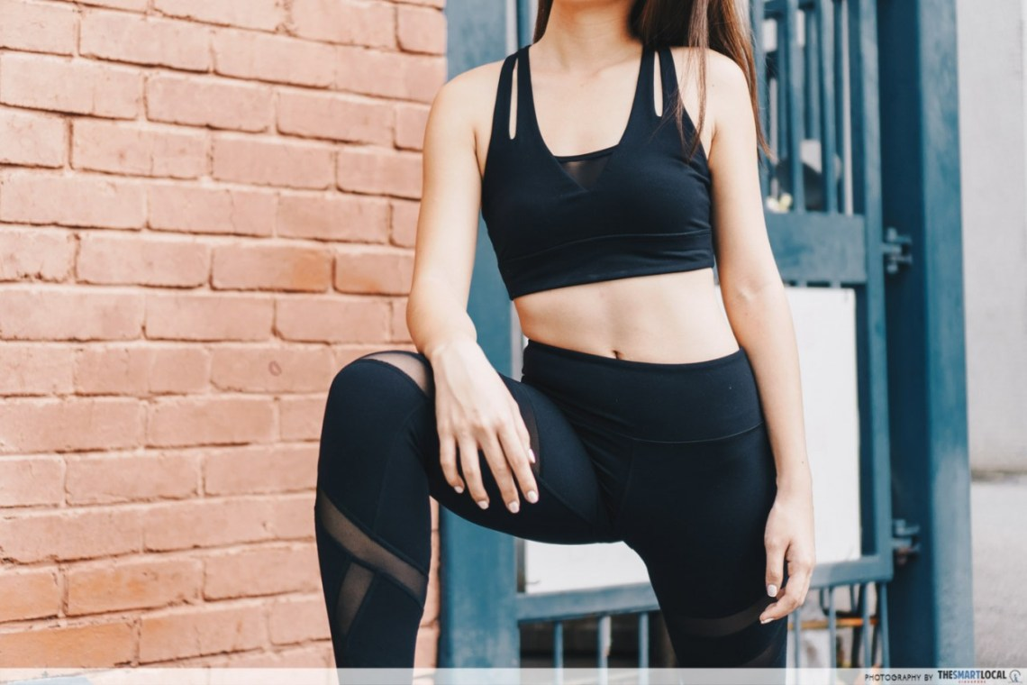 gym wear movement black activewear set