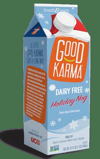 Good Karma dairy free eggnog honestbee
