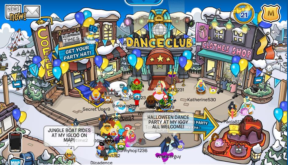 club penguin party