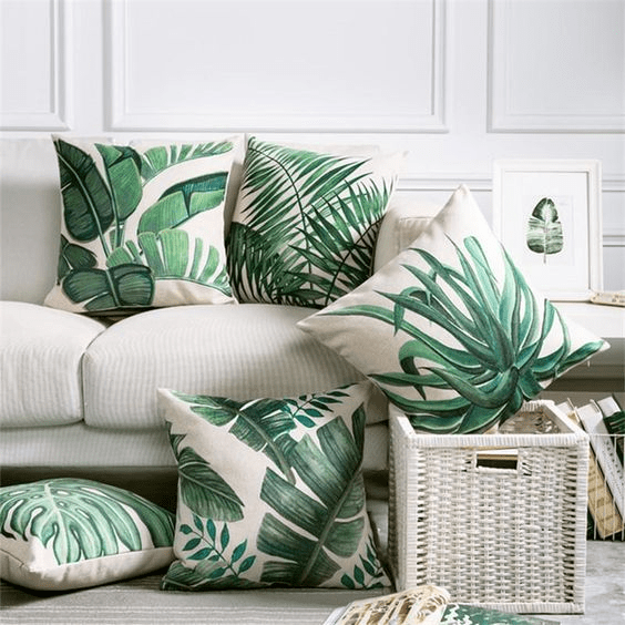 Plant-inspired cushion covers