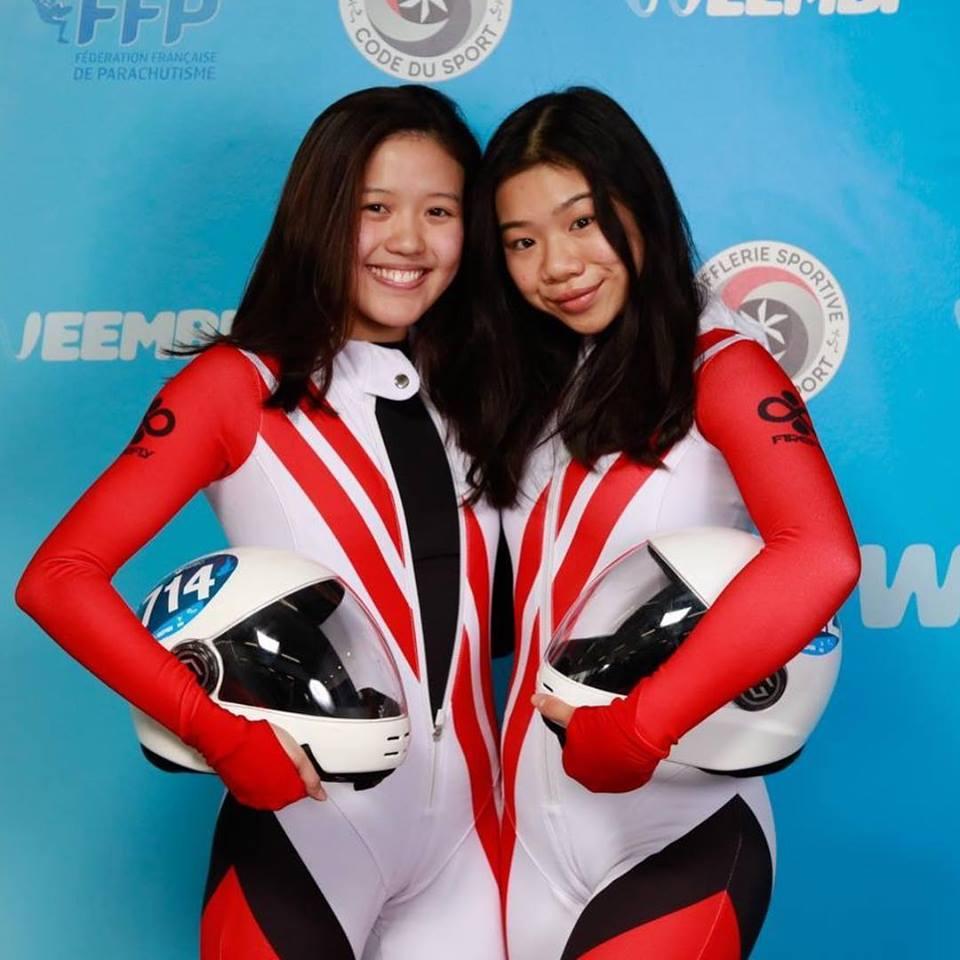 choo yi xian kyra poh skydiving