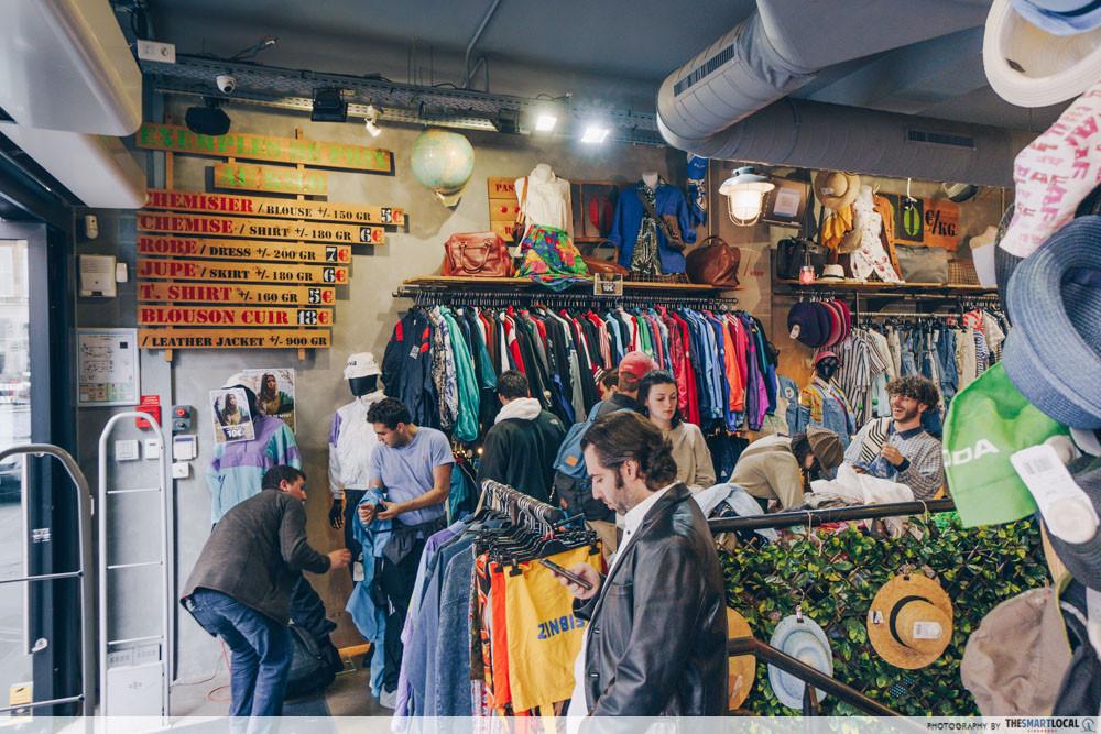 Vintage shopping in Paris
