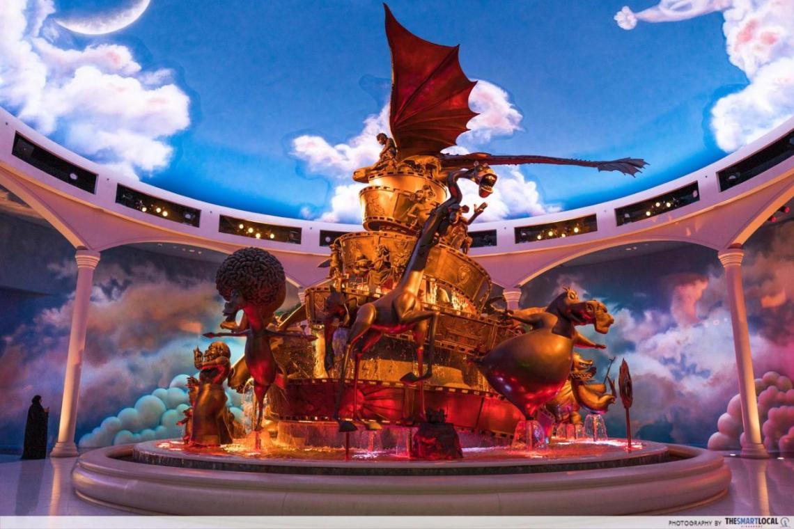 motiongate dreamworks fountain
