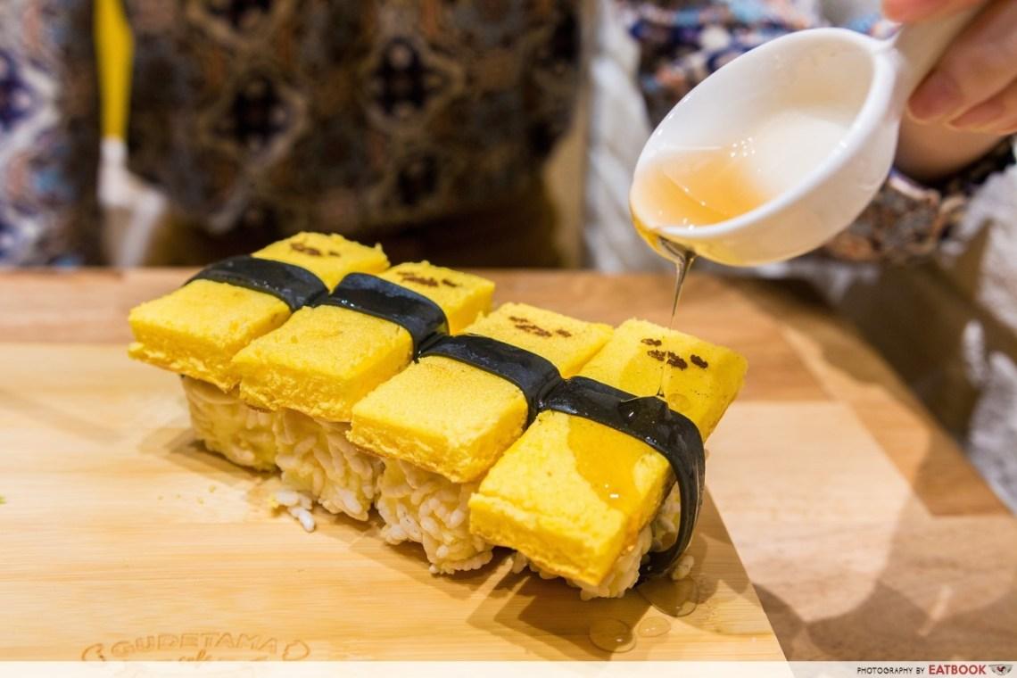 Gudetama Cafe Singapore sushi