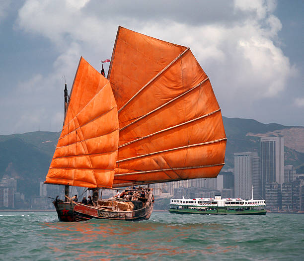 traditional junk boat