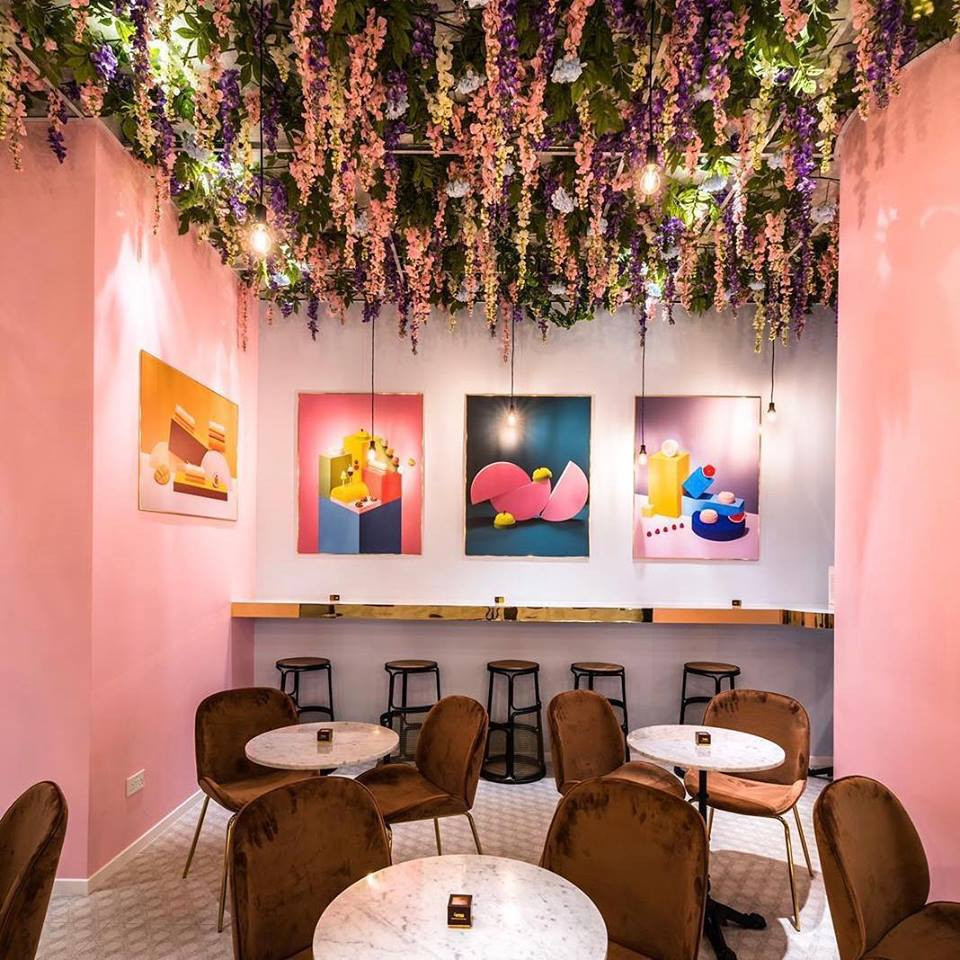 a summer in paris french cafe singapore pink interior