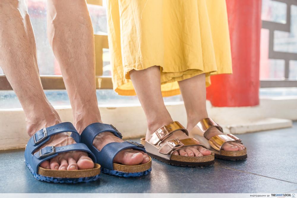 Picnic spots - Chinese & Japanese Gardens - Birkenstock sandals