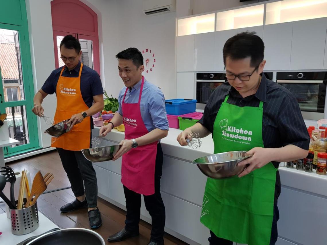 Food battle at Kitchen Showdown