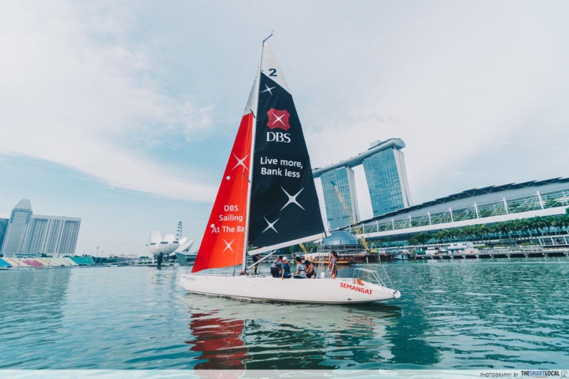 sailing around marina bay singapore sailing federation
